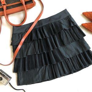 NWOT GAP Silk + Cotton Ruffle Tiered Skirt